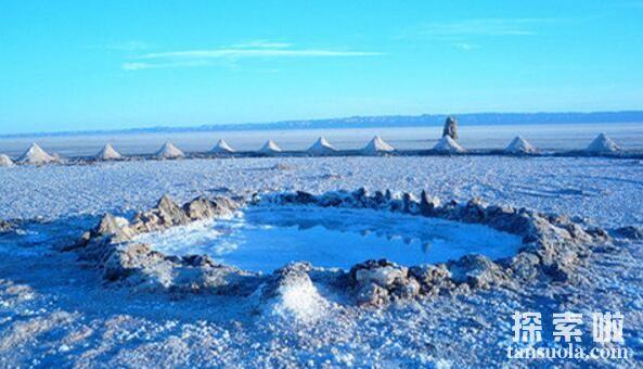 世界上最大的盐湖沙漠:吉利特,最美的沙漠盐湖(图1)