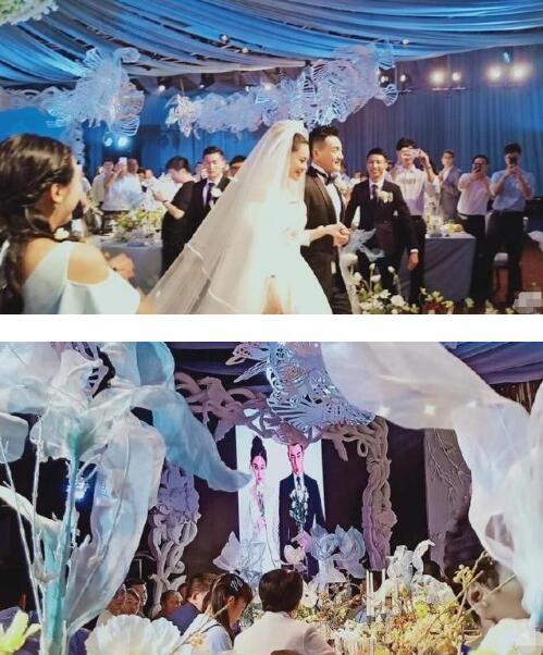 张馨予何捷婚礼,两人现场表白,新娘一度哽咽(图1)
