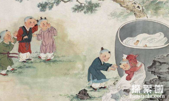 司马光砸缸的故事:机智少年,砸缸救出同伴(图3)