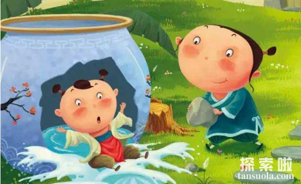 司马光砸缸的故事:机智少年,砸缸救出同伴(图4)
