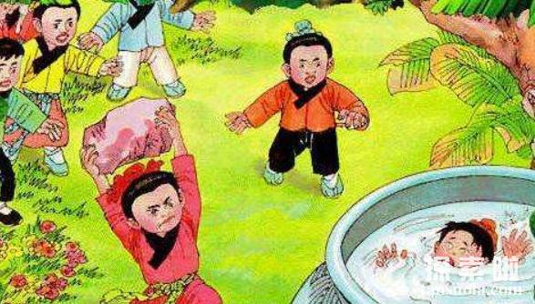 司马光砸缸的故事:机智少年,砸缸救出同伴(图5)