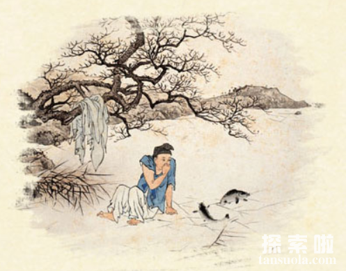 二十四孝故事:卧冰求鲤,王祥为继母暖冰求鲤(图1)