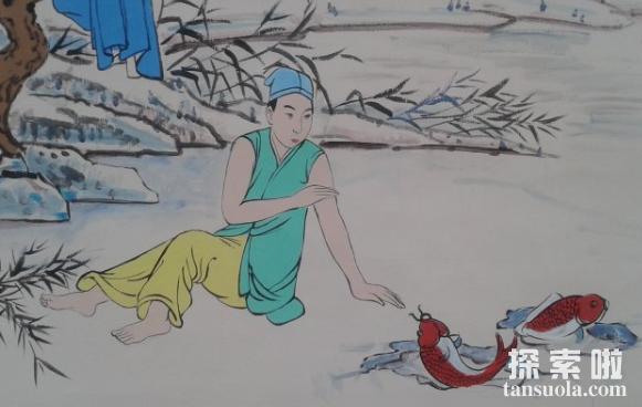 二十四孝故事:卧冰求鲤,王祥为继母暖冰求鲤(图2)
