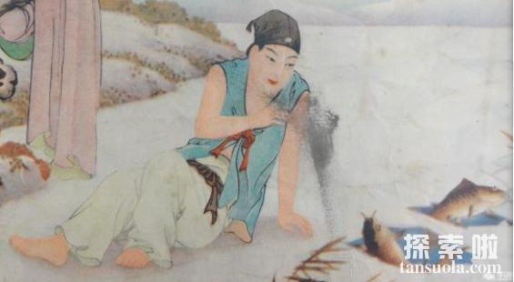 二十四孝故事:卧冰求鲤,王祥为继母暖冰求鲤(图3)