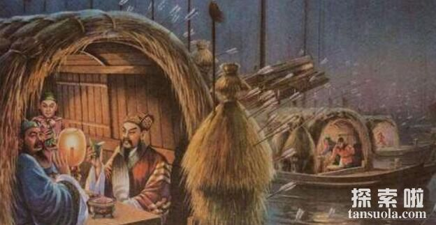诸葛亮草船借箭的故事,草船诱敌借得十万支箭(图6)