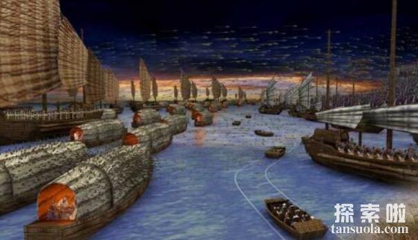诸葛亮草船借箭的故事,草船诱敌借得十万支箭(图5)