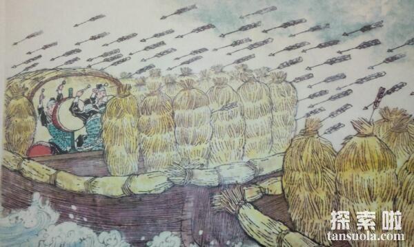 诸葛亮草船借箭的故事,草船诱敌借得十万支箭(图3)