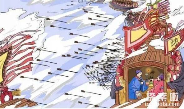 诸葛亮草船借箭的故事,草船诱敌借得十万支箭(图2)
