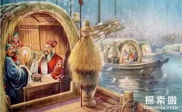 诸葛亮草船借箭的故事,草船诱敌借得十万支箭(图1)