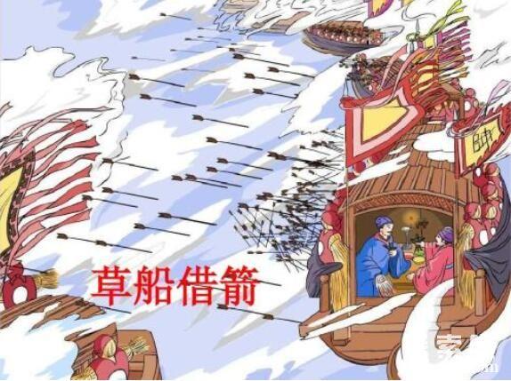 诸葛亮草船借箭的故事,草船诱敌借得十万支箭(图7)