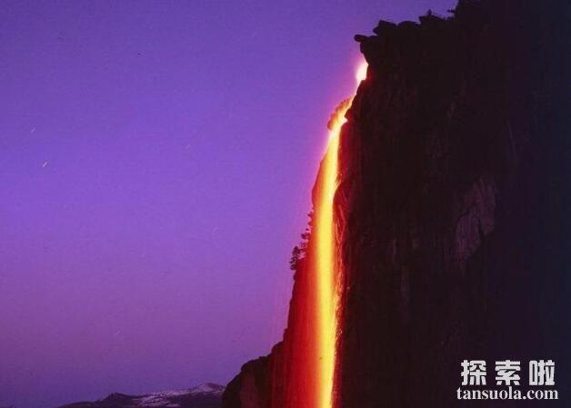 罕见自然奇观:火瀑布,609米的橘红色大瀑布(2)