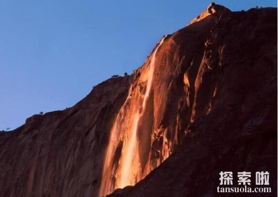 罕见自然奇观:火瀑布,609米的橘红色大瀑布(6)