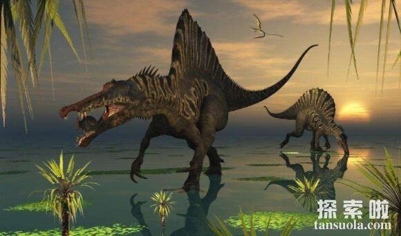史前最大最危险的十种恐龙,棘龙独霸天下(海陆无敌手)