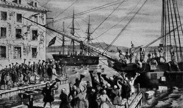"""波士顿倾茶事件真相揭秘,波士顿""""自由之子""""的政治示威事件"""