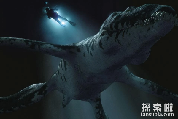 滑齿龙:长有鱼鳍的海洋恐龙,有类似鳄鱼的尖锐牙齿
