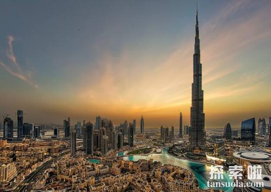 世界第一高楼迪拜塔多高,高度828米的摩天大楼(共162层)