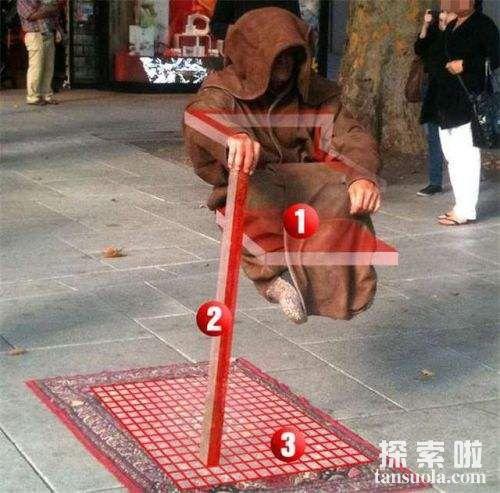 印度高僧悬空揭秘 街头人体悬空魔术揭秘