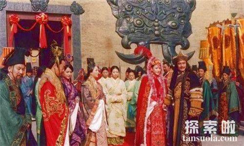 经匈奴单于撮合,张骞娶了一个匈奴女子