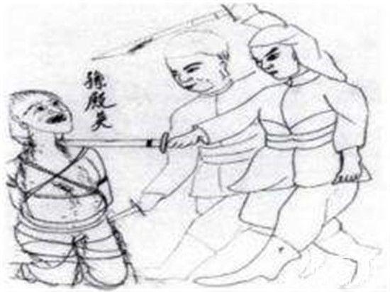 皇帝溥仪手绘《杀孙殿英》